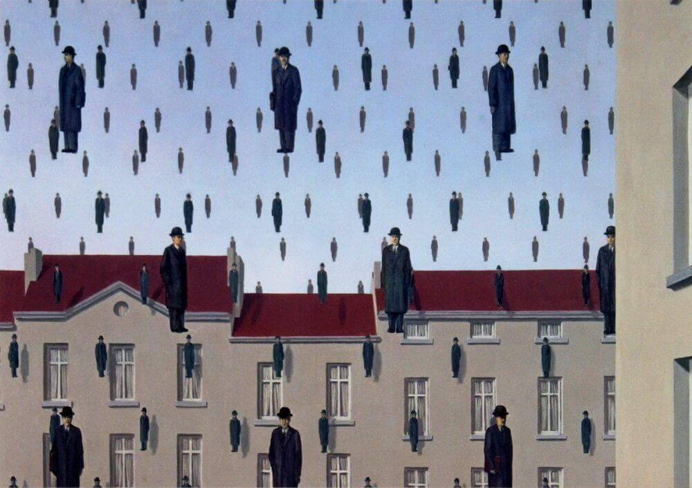 Rene Magritte The Son Of Man Golconda