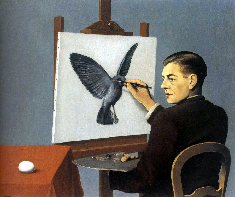 La Clairvoyance, 1936 by Rene Magritte