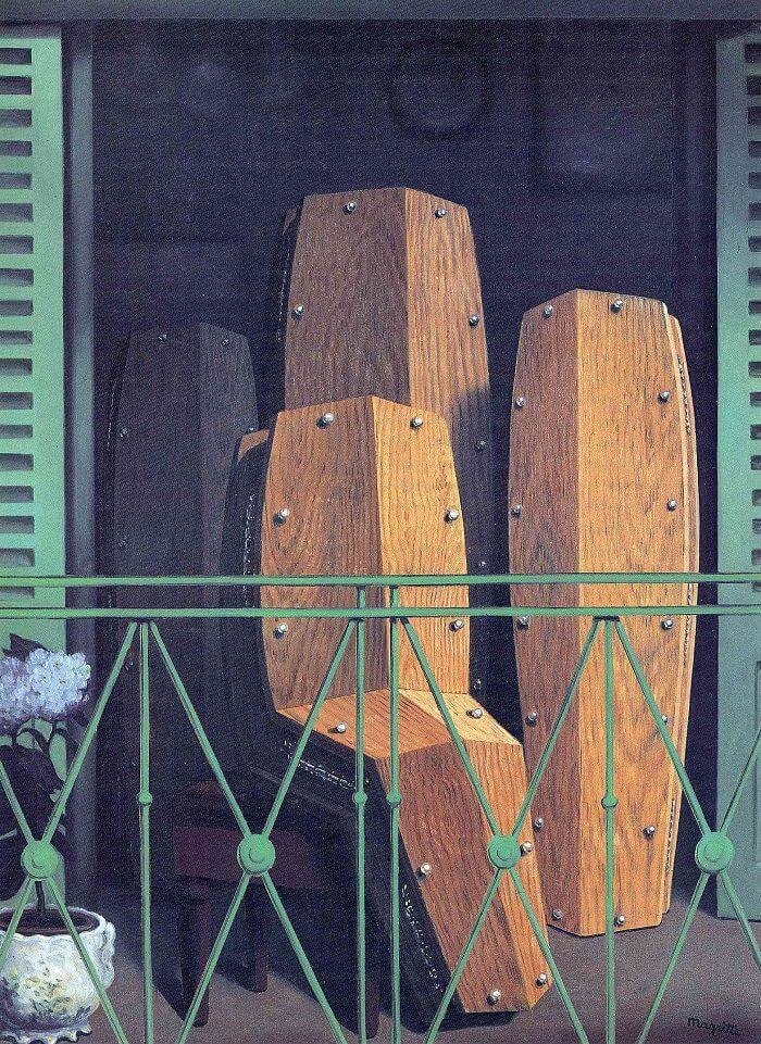 the balcony 1950 by rene magritte