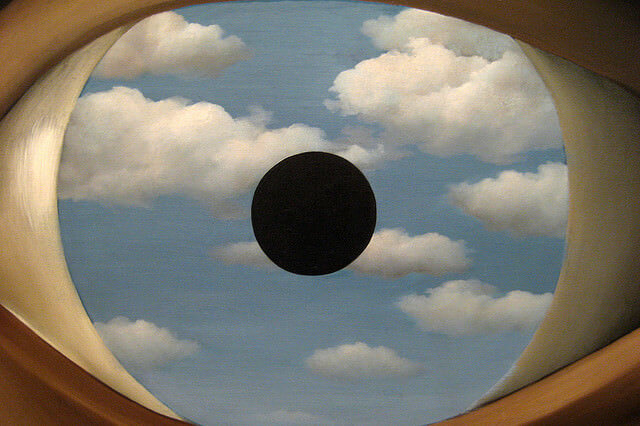 The False Mirror, 1928 by Rene Magritte