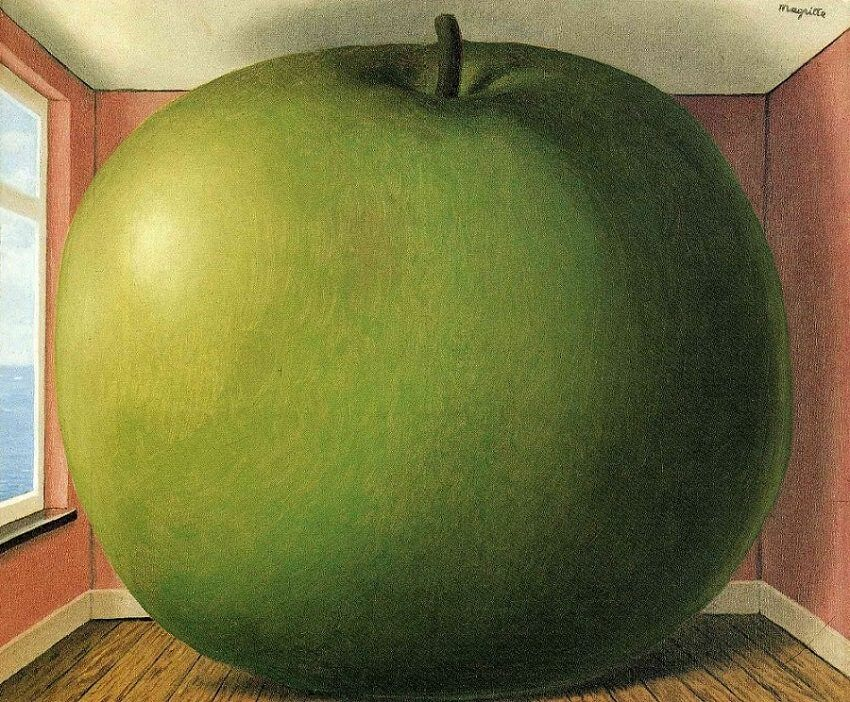 The Listening Room, by Rene Magritte