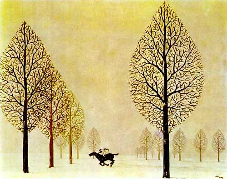 Lost Jockey - 1948 gouache on paper by Rene Magritte