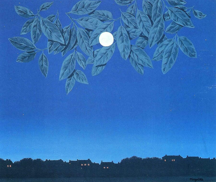 The White Page, 1967 by Rene Magritte