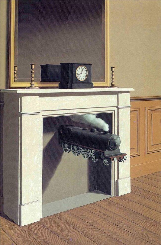 Time transfixed, 1938 by Rene Magritte (1898-1967, Belgium